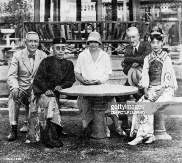 Emperor Pu Yi with his wife Wan Rong in Tianjin in 1931, China, 20th century.