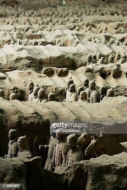 Emperor Qin Shi Huang'S Terra Cotta Soldiers In Xian, China On November 29, 2007 - The Terra Cotta Warriors and Horses are the most significant...