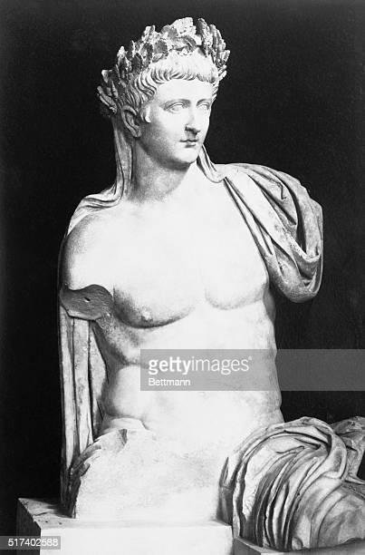 Emperor Tiberius in a statue in Rome 2nd Roman Emperor the son of Tiberius Claudius Nero and Livia