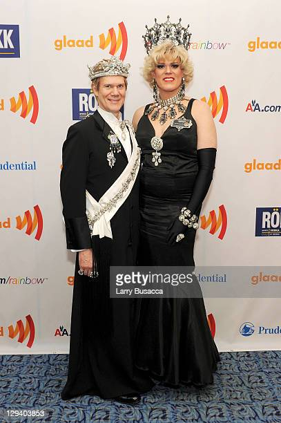 Emperor XIX Jack and Empress XXIV Farrah Moans attend the 22nd Annual GLAAD Media Awards presented by ROKK Vodka at Marriott Marquis Times Square on...