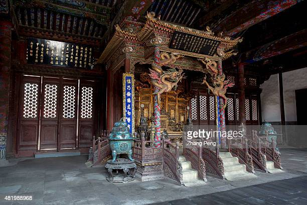 Emperor's Throne in Chongzheng Hall Shenyang Imperial Palace built in 1625 is the former imperial palace of the early Qing dynasty where the first...