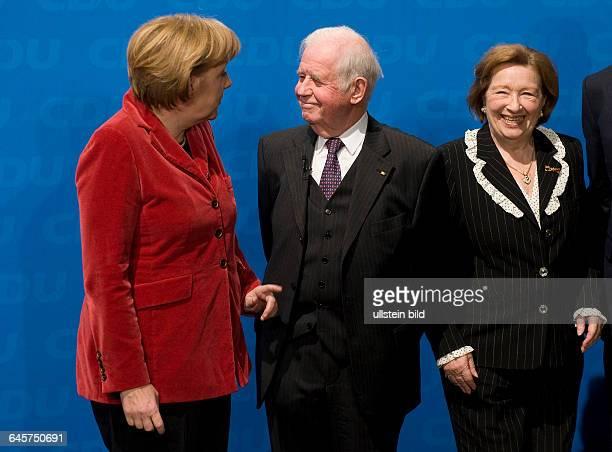 Empfang anlaesslich des 80. Geburtstages von Ministerpraesident a.D. Kurt Biedenkopf, Freitag , ICC Dresden.Bundeskanzlerin Angela Merkel und der...