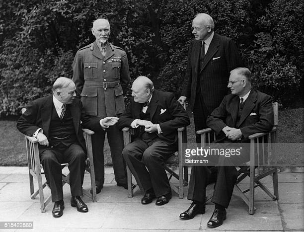 Empire Conference Opens London England Prime Minister Winston Churchill presided at the first meeting of empire premiers in London recently to...