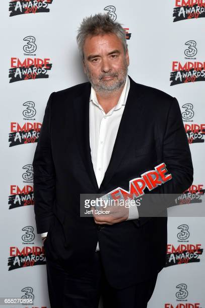 Empire Inspiration award winner director Luc Besson poses in the winners room at the THREE Empire awards at The Roundhouse on March 19 2017 in London...