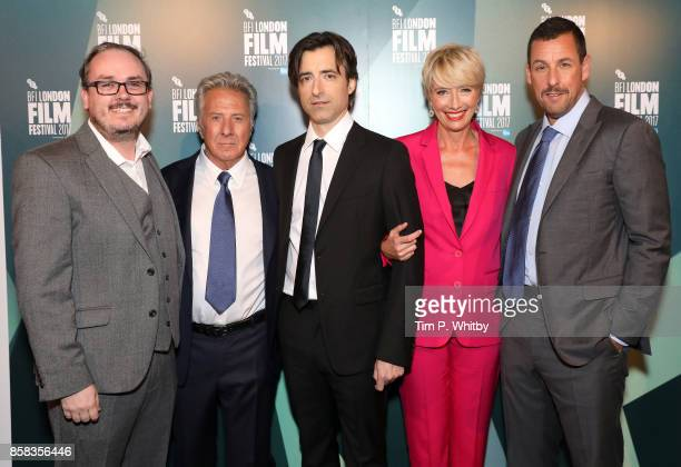 Empire Magazine's Chris Hewitt , actor Dustin Hoffman, director Noah Baumbach and actors Emma Thompson and Adam Sandler attend the Laugh Gala and UK...