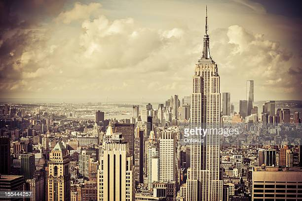 Empire State Building and Manhattan Cityscape, New York City, Usa