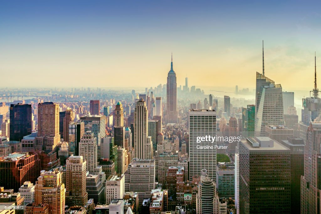 Empire State Building and New York skyline, USA : Bildbanksbilder