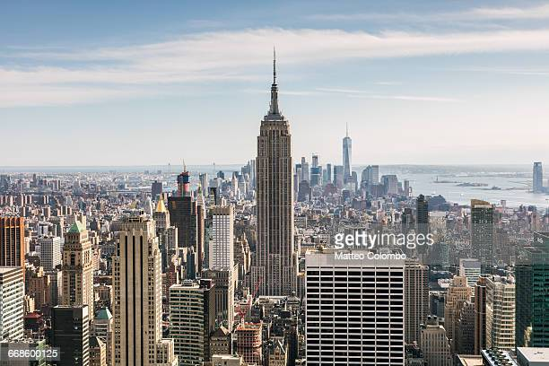 empire state building and skyline, new york, usa - empire state building stock pictures, royalty-free photos & images