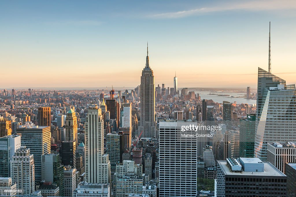 Empire State building and skyline, New York, USA : Stock Photo