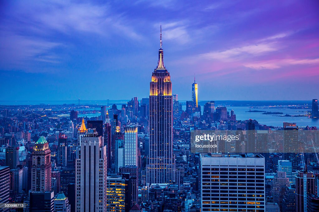 Empire State Building at night : Stock Photo
