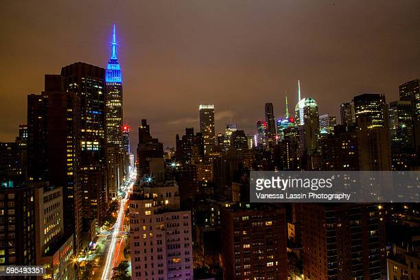 empire state building fall 2015 - vanessa lassin stock pictures, royalty-free photos & images