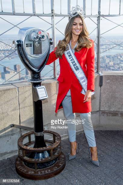 Empire State Building hosts the 2017 Miss Universe DemiLeigh NelPeters at The Empire State Building on November 28 2017 in New York City