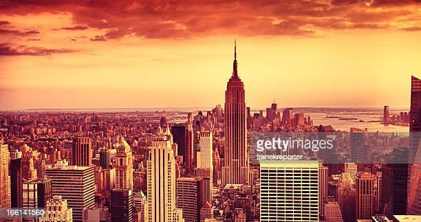 Empire State Building in Manhattan panorama
