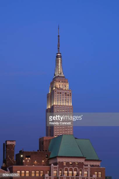 Empire State Building Midtown Dusk Skyline West Side Manhattan New York City USA