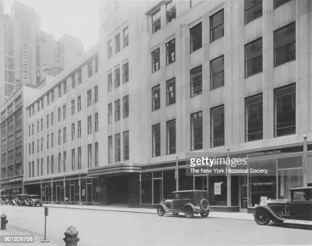 Empire State Building north side of West 33rd Street Western Union office New York New York between 1931 and 1938