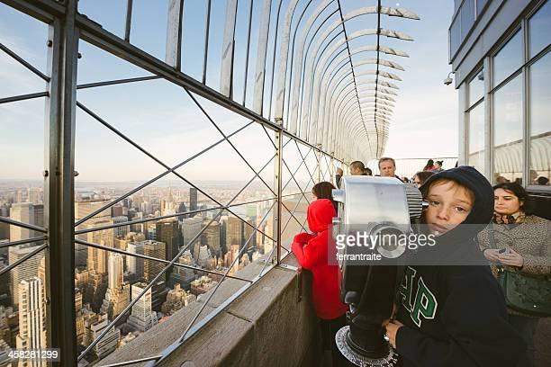 empire state building observation deck - lookout tower stock pictures, royalty-free photos & images