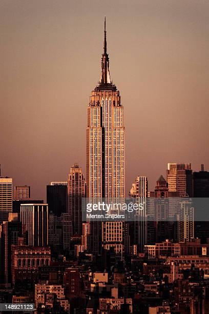 empire state building. - merten snijders stockfoto's en -beelden