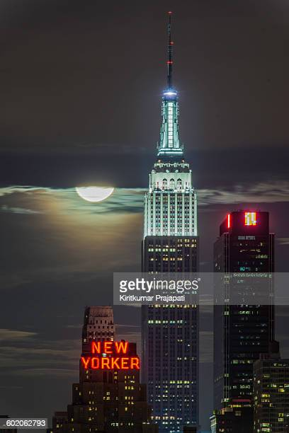 Empire State Building with supermoon New York City June 23 2013
