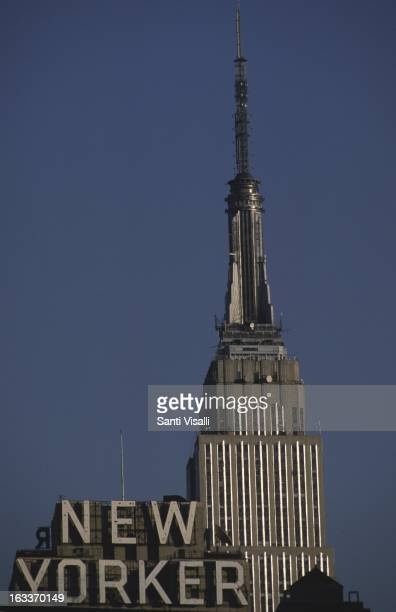 Empire State Building with the sign of the New Yorker Magazine on May 28 1979 in New York New York