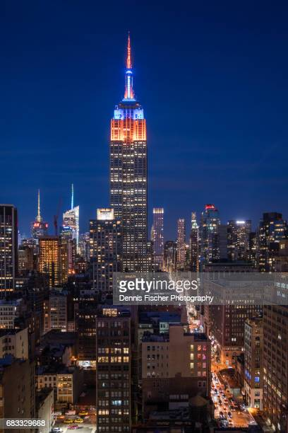 Empire State bulding colors