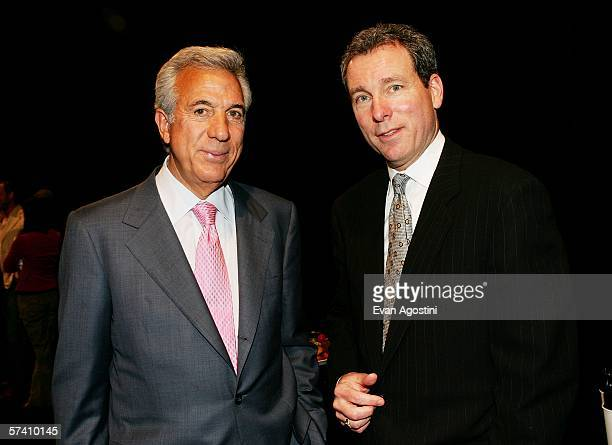 Empire State Development Corporation chairman Charles Gargano and American Express Chief Marketing Officer John Hayes pose backstage at the Fifth...