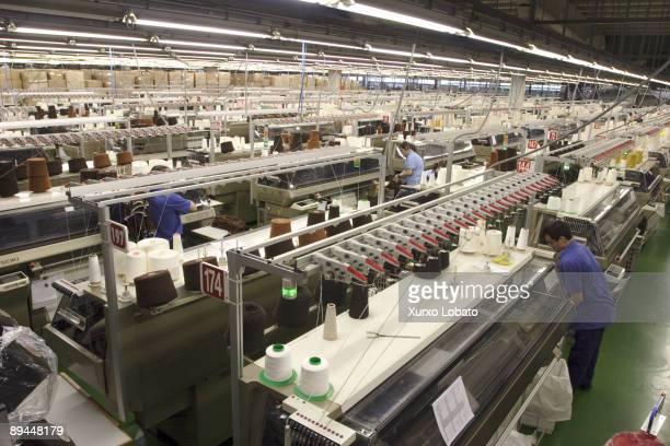 Empire Textile factory in the Industrial estate of Pozo Naron La Coruna The Spanish Fashion Company INDITEX owned by Amancio Ortega The entire design...