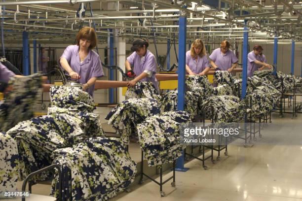 Empire Workers in the Zara factory Sabon Arteixo La Coruna The Spanish Fashion Company INDITEX owned by Amancio Ortega The entire design production...