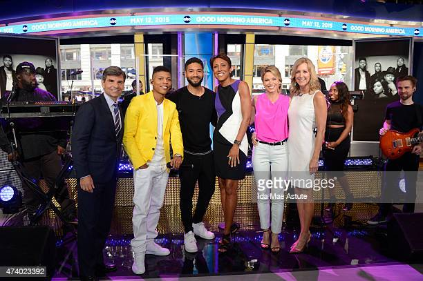 """Empire's"""" Jussie Smollett and Yazz perform live on GOOD MORNING AMERICA, 5/12/15, airing on the Walt Disney Television via Getty Images Television..."""