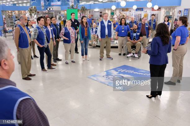 SUPERSTORE Employee Appreciation Day Episode 422 Pictured Amir M Korangy as Sayid Ben Feldman as Jonah Irene White as Carol Nico Santos as Mateo...