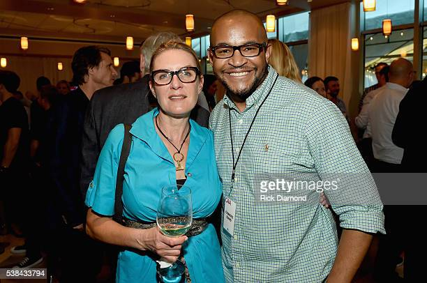 CAA employee Erin Culley and CAA employee Charvis Rand attends the 24th Annual CAA BBQ at CAA Nashville on June 6 2016 in Nashville Tennessee