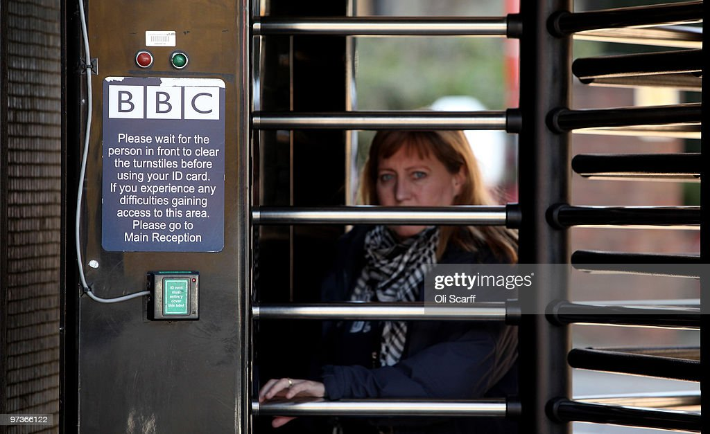 A BBC employee leaves Television Centre on March 2, 2010 in London, England. The corporation have today published their strategy review which proposes the closure of the digital radio stations 'BBC 6 Music' and 'Asian Network' and half of the websites provided by BBC online will close by 2013. A public consultation will now take place before the BBC Trust make a decision on which proposals to implement.