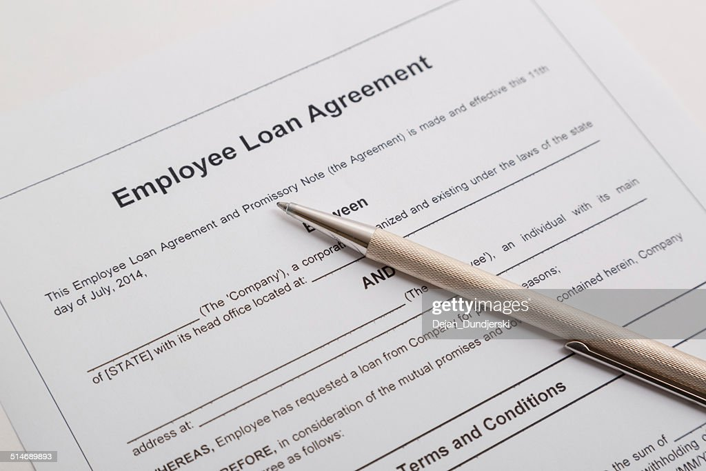 Employee Loan Agreement Stock Photo Getty Images