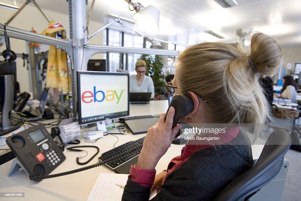 ebay head office. Employee Of The Ebay Head Office Germany In Berlin At Her Workplace, On January 29 R
