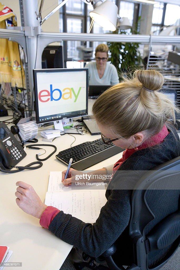 ebay head office. Employee Of The Ebay Head Office Germany In Berlin At Her Workplace, On January 29 I