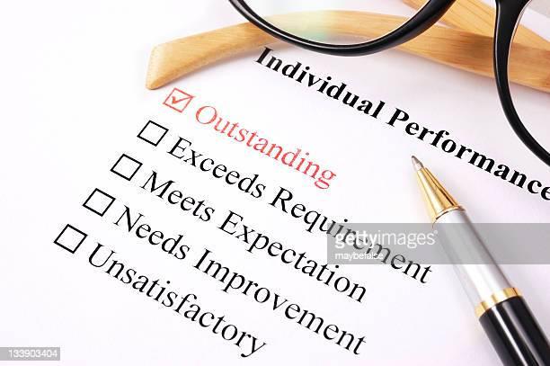 employee performance assessment - outstanding