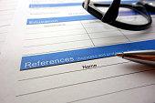 Employee references heading