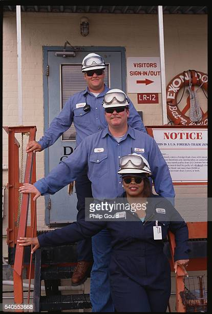 Employees at an Exxon Refinery