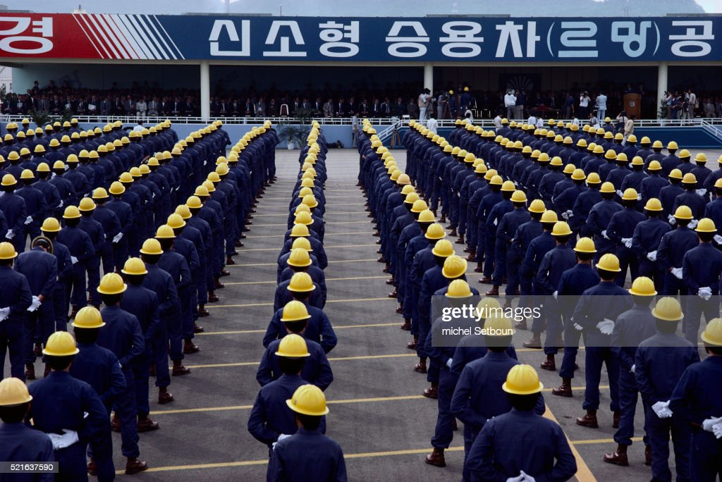Employees At Daewoo Motor Company Stock Photo | Getty Images