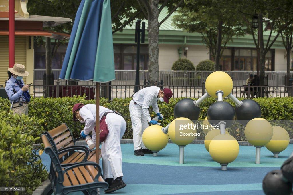 Disneyland Prepares Ahead of Scheduled Reopening : News Photo