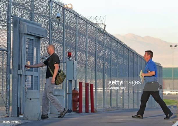 Employees enter the Utah State Prison woman facility on September 19 2018 in Draper Utah Wanda Barzee who helped kidnap Elizabeth Smart in June of...