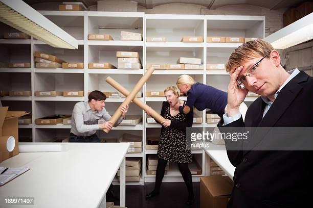 employees fighting