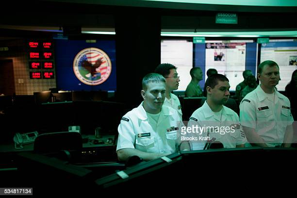 Employees inside the National Threat Operations Center at the National Security Agency in Fort Meade Maryland