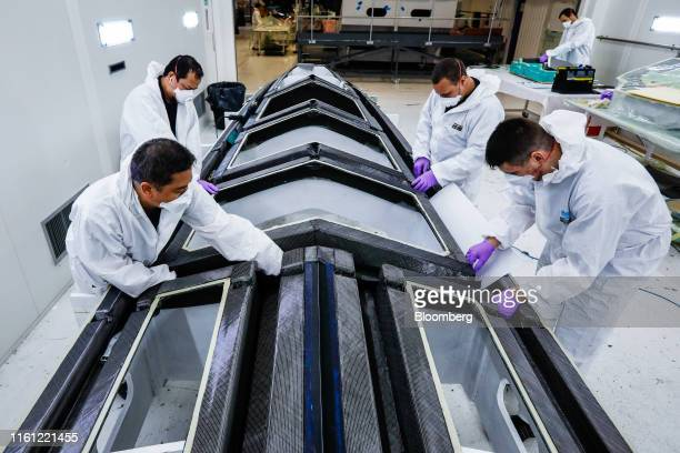 Employees mould parts for Princess R35 performance sports yachts at the Princess Yachts Newport Street site in Plymouth UK on Tuesday March 12 2019...