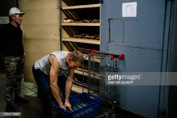 Employees of Grishko company produce pointe shoes in the company's Moscow workshop on February 25 2020 Born in the chaos of the collapse of the...