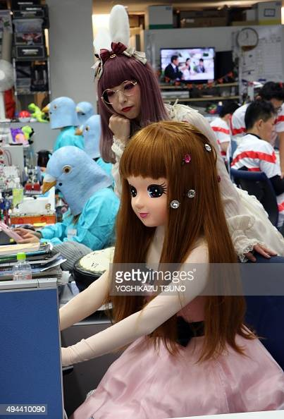 Japanese Toy Companies : Employees of japanese toy company tomy dressed as