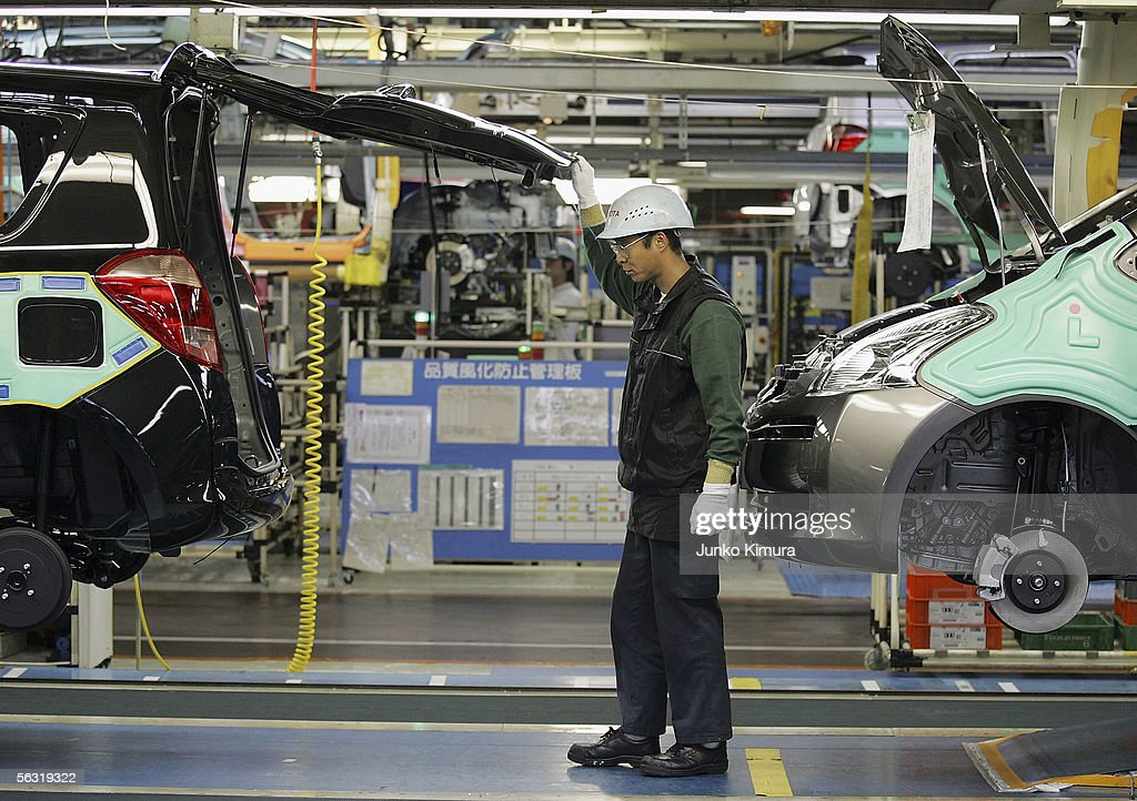New Toyota Production Line Opens : News Photo