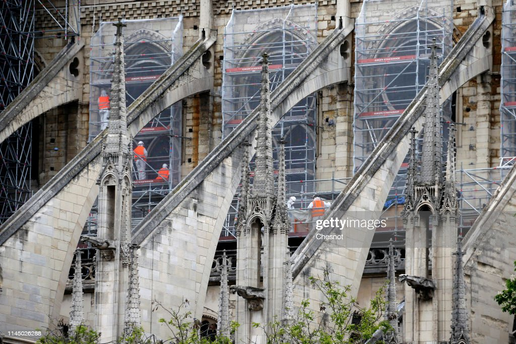 FRA: Work Takes Place On Notre Dame Cathedral After Devastating Fire