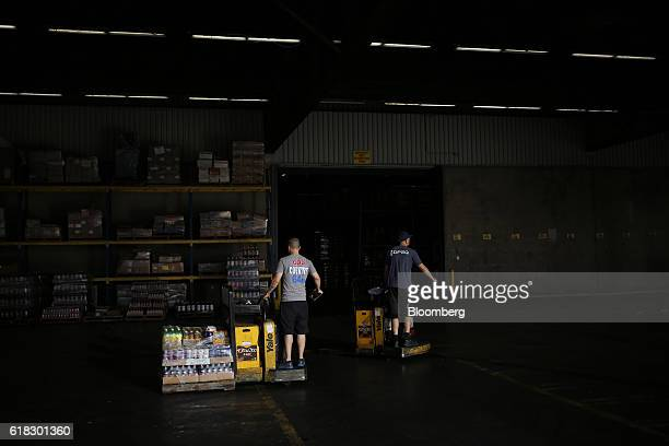 Employees organize delivery orders at the Dr Pepper Snapple Group Inc bottling plant in Irving Texas US on Tuesday Oct 25 2016 Dr Pepper Snapple...