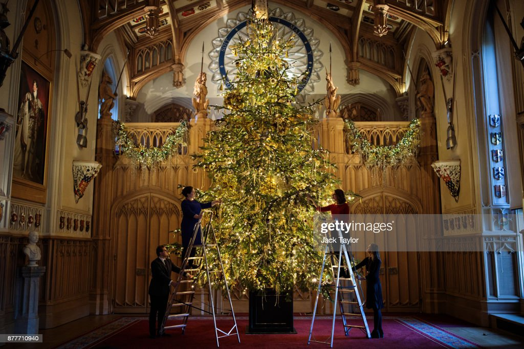 The State Apartments At Windsor Castle Are Decorated for Christmas : News Photo