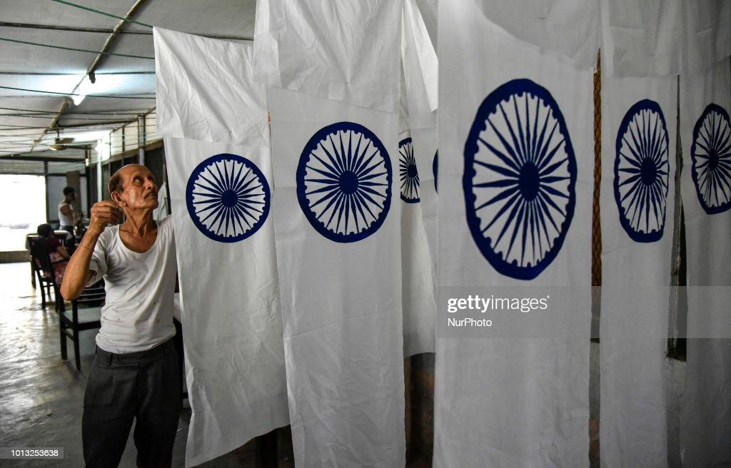 Indian Flag Manufacturing : ニュース写真